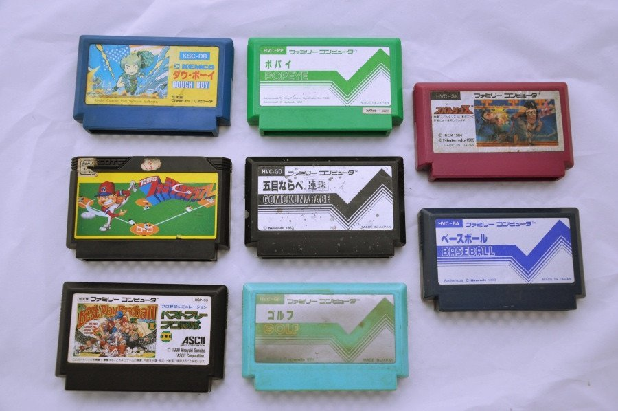 Game | Nintendo Famicom | Bundle Mixed Popeye Dough Boy Sport Baseball x 8
