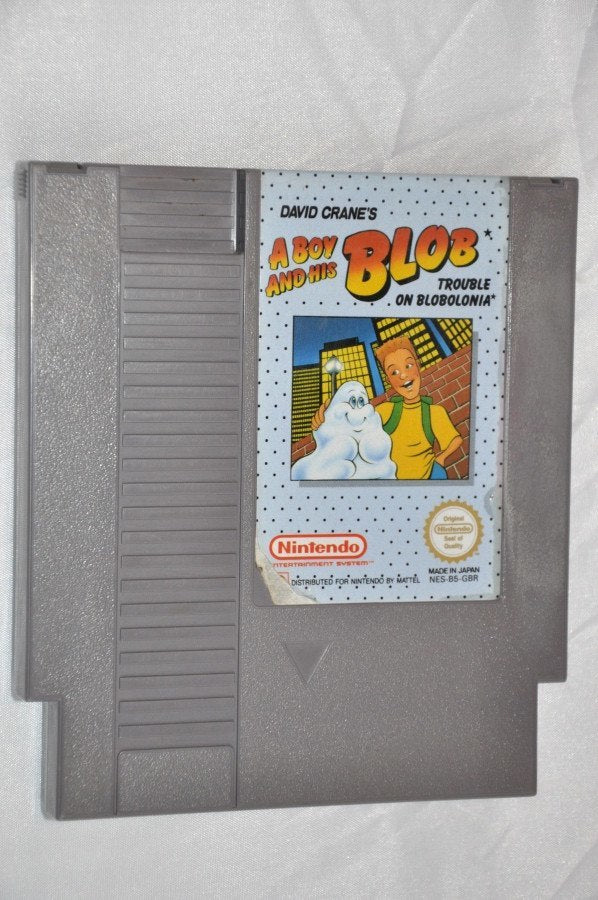 Game | Nintendo NES | A Boy and His Blob cart PAL