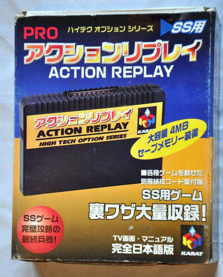Sega Saturn Action Replay Pro Cart Datel High Tech Option Series