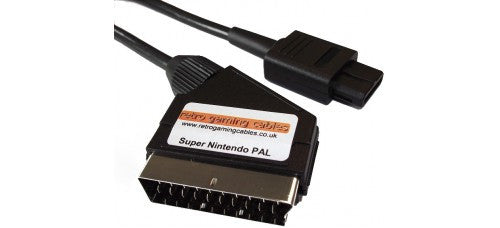 Cable | Super Nintendo SNES RGB SCART Cable Stereo - PAL