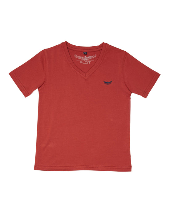 BASIC V NECK RED