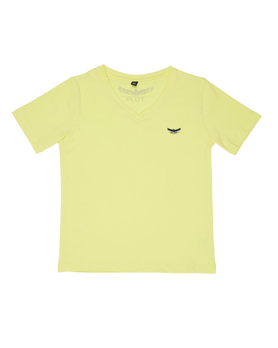 BASIC V NECK YELLOW