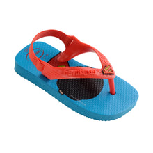 Load image into Gallery viewer, Baby New Herois (Superman) Turquoise Thongs