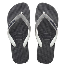 Load image into Gallery viewer, Top Mix Black/Steel Grey/Black Thongs