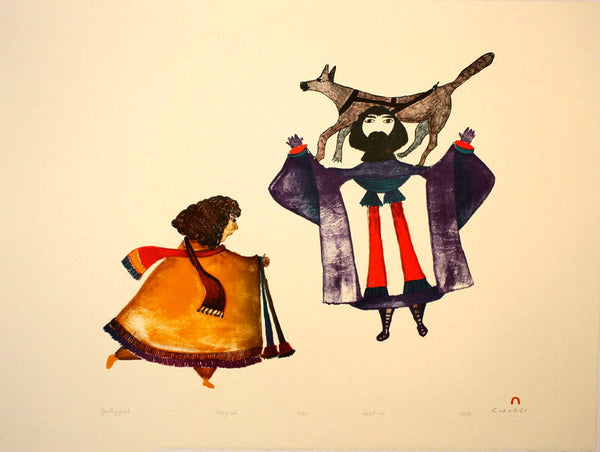 1991 AJURITUIJIJUAK (HIGHEST PRIEST) by Pudlo Pudlat
