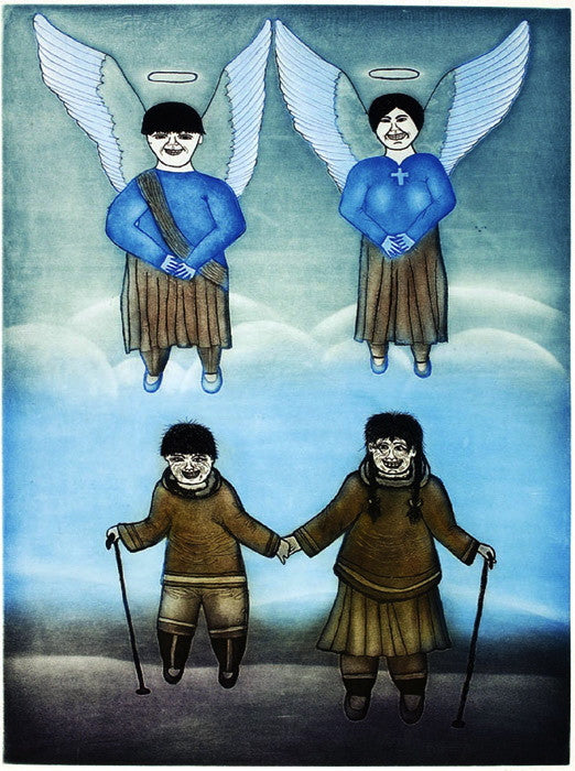 2002 ANGELS BECKON by Kumwartok Ashoona