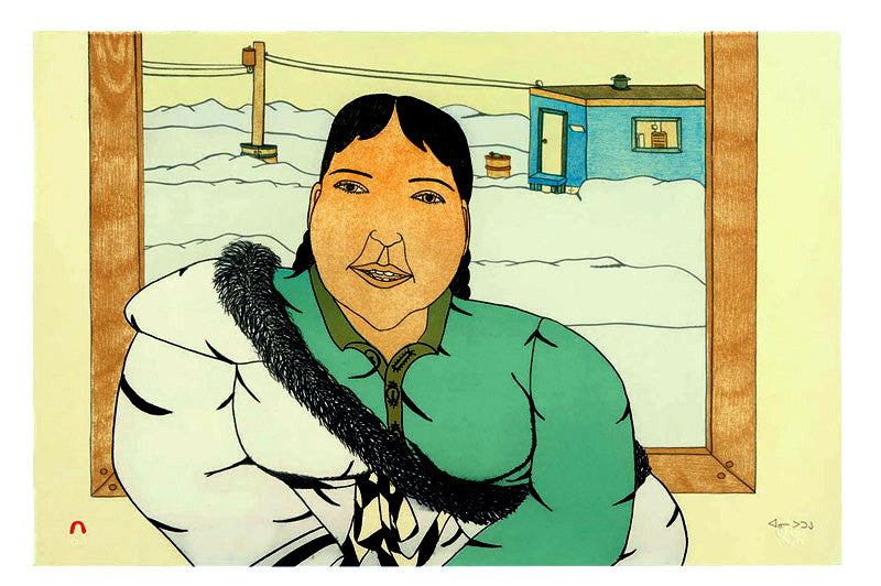 2005 A FRIEND VISITS by Annie Pootoogook