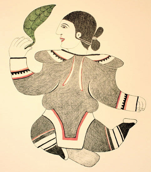 1985 DANCER WITH LEAF by Pitaloosie Saila