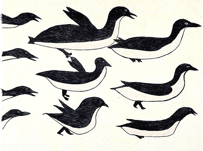 2001 FLOCK OF BIRDS by Ohotaq Mikkigak