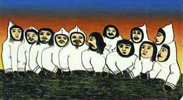 1997 SIKUSILAMEOT (PEOPLE FROM SOUTH BAFFIN) by Pitaloosie Saila