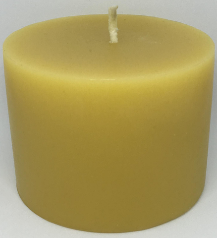 Pure Beeswax Thick Pillar Candle (Small)
