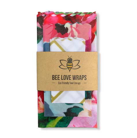 Re-useable Beeswax Food Wraps (3 pack) By Bee Love Wraps
