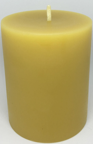 Pure Beeswax Thick Pillar Candle (Medium)