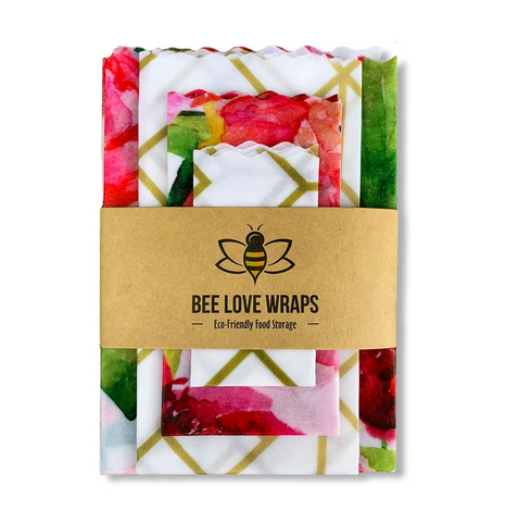 Re-useable Beeswax Food Wraps (4 pack) By Bee Love Wraps