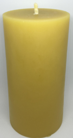 Pure Beeswax Thick Pillar Candle (Large)
