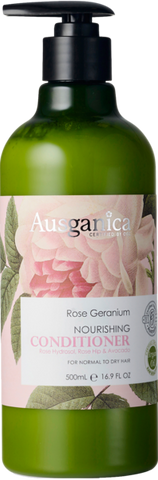 Rose Geranium Conditioner (Normal to Dry Hair) - Ausganica Organic