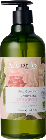 Rose Geranium Shampoo (Normal to Dry Hair) - Ausganica