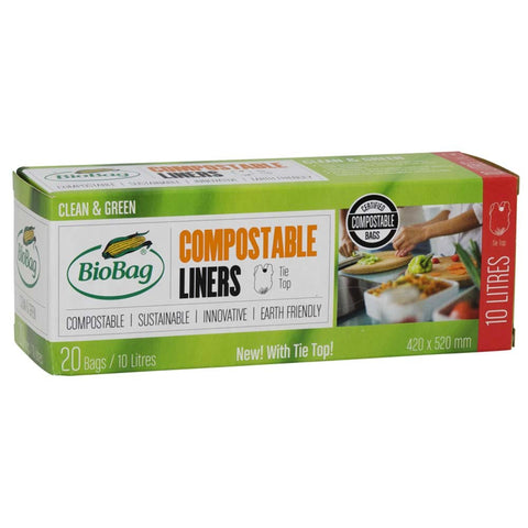 Compostable 10L Bin Liners - BioBag