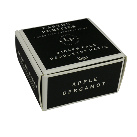 Bicarb free Deodorant Paste (Apple Bergamot) - Earths Purities