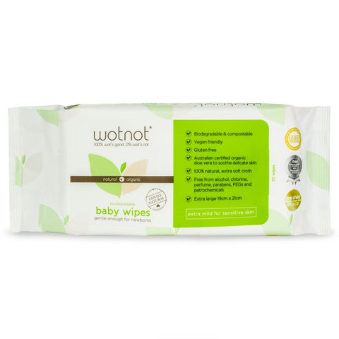 Biodegradable Baby Wipes from WotNot