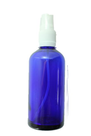 Bottle-Blue Glass with white spray top-100ml
