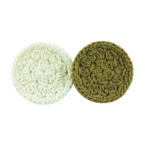 Reusable Crochet Face Wipes - Organic Cotton