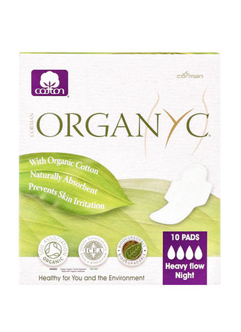 Organic Sanitary Pads (Heavy flow / Night) - Organyc