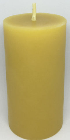 Pure Beeswax Thin Pillar Candle (Medium)