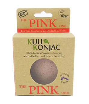 Kuu KONJAC Facial Sponge-PINK Heart Shaped