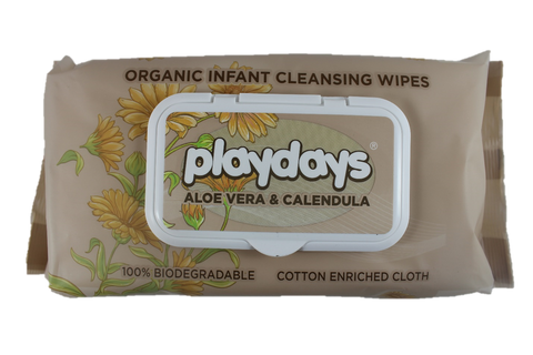 Biodegradable Organic Wipes- from Playdays
