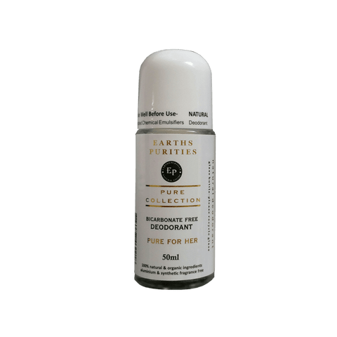 Bicarb Free Roll on Deodorant (Pure for Her)- Earths Purities