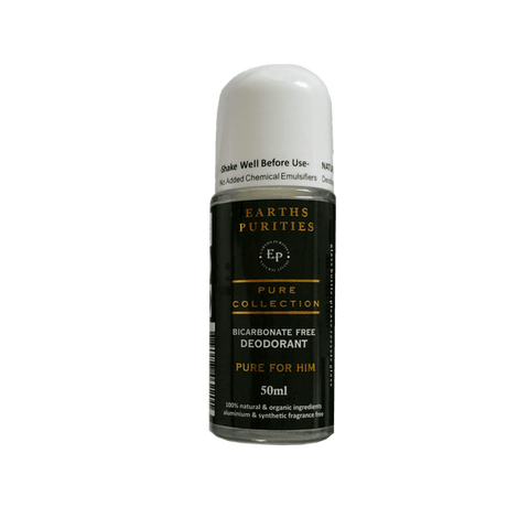 Bicarb Free Roll on Deodorant (Pure for Him)- Earths Purities