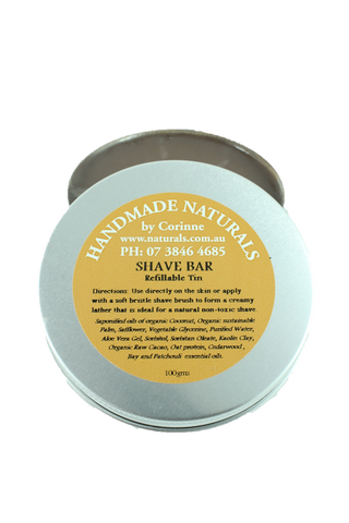 Shave Bar REFILLABLE from Handmade Naturals
