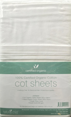 Organic Cotton Cot Sheets from Nature's Child