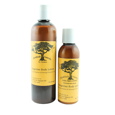 Macadamia & Evening Primrose Body Lotion w/Tangerine from Handmade Naturals