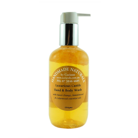 Luxurious Castile Hand & Body Wash from Handmade Naturals