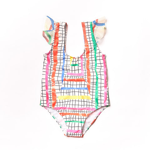 Noe and Zoe Olympic Steps Swimsuit