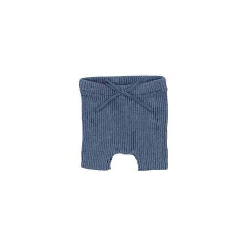 Lil Legs Blue Knit Shorts