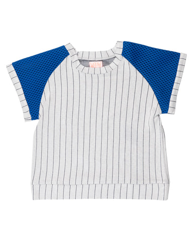 Wauw Capow Carl Grey Striped Tee