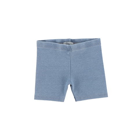 Lil Legs Chambray Biker Shorts