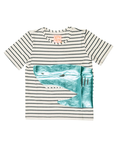 Wauw Capow Striped Shark Tee