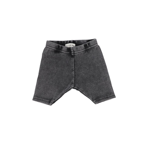 Lil Legs Grey Wash Ribbed Shorts