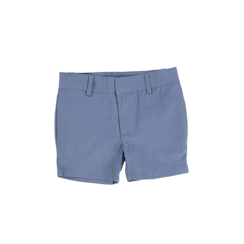 Lil Legs Blue Flat Cotton Shorts