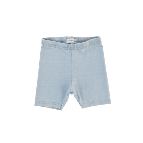 Lil Legs Chambray Capri Shorts