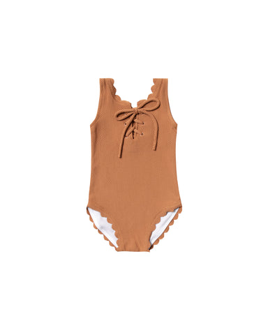 Rylee and Cru Laced Bronze Swimsuit