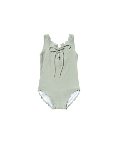 Rylee and Cru Laced Seafoam Swimsuit