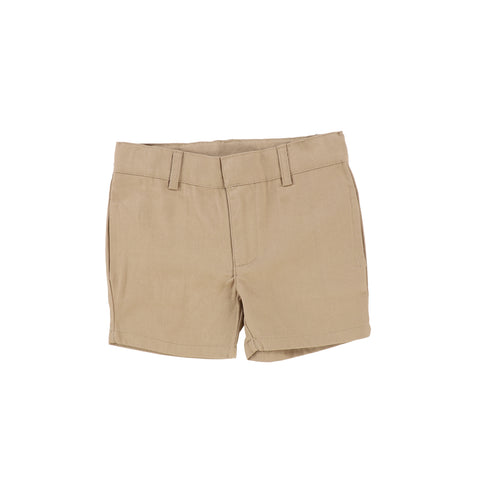 Lil Legs Oatmeal Flat Cotton Shorts