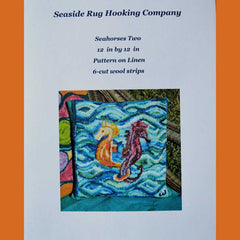Two Seahorses pillow kit