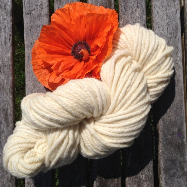 Super Bulky  (4 ply) Yarn - Bleached White