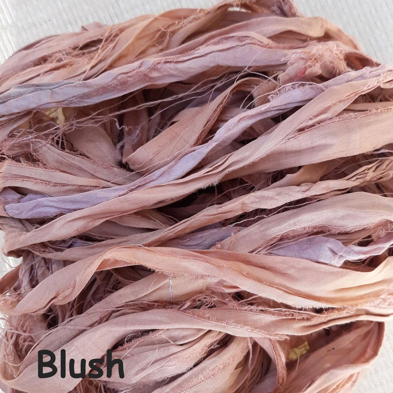 Sari Silk Ribbon - Blush